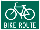 Bike Route Sign